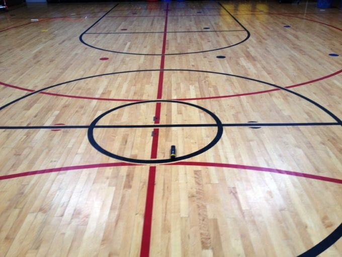 Cupped wood gym floor