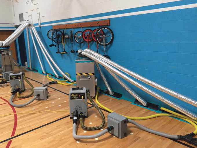 gymnasium water damage restoration