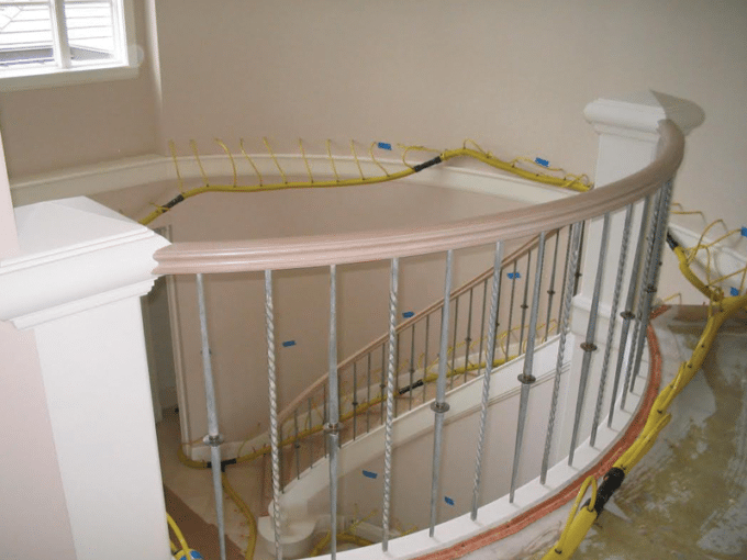 WF Wall Drying On Staircase