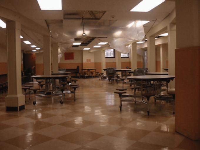 school cafeteria dryout
